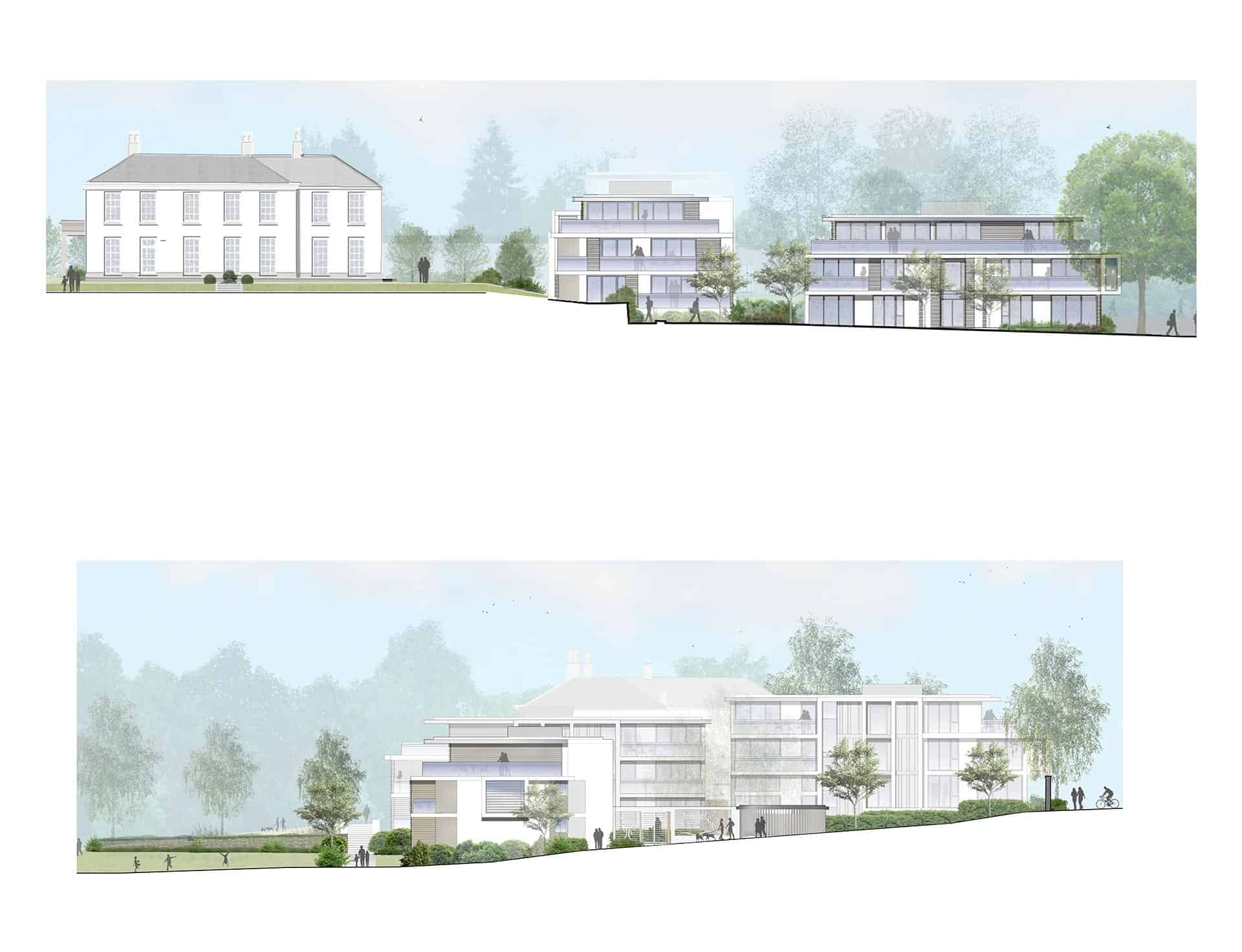 40 residential properties set in a Grade II listed setting with refurbishment of the existing college building.