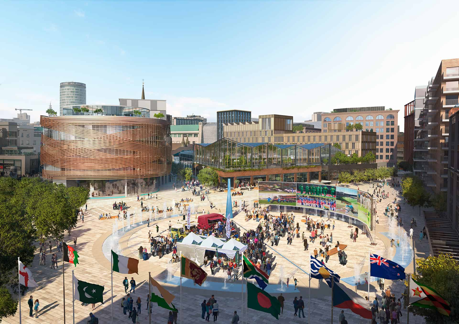 Birmingham Smithfield Development designed in collaboration of a larger team led by Lendlease